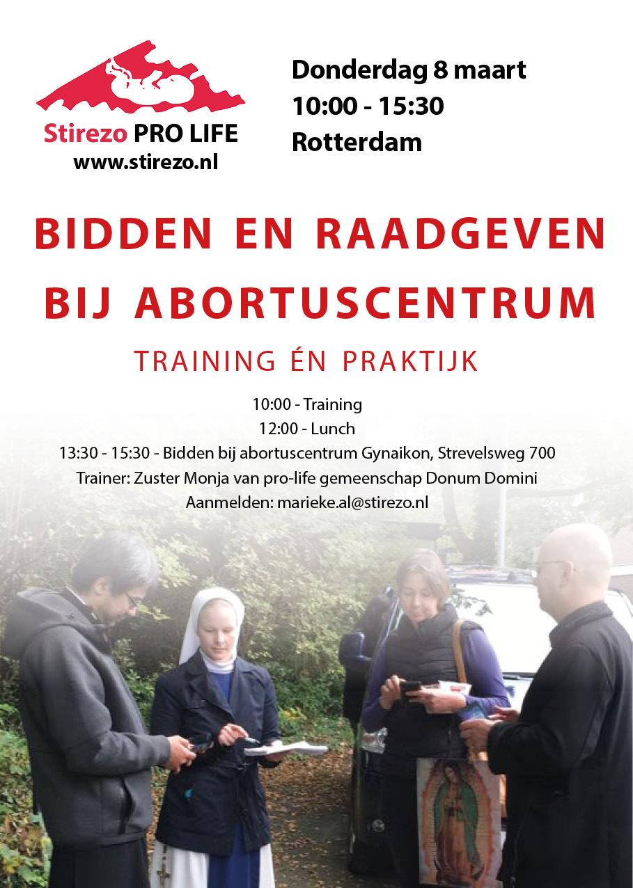 Uitnodiging: leren waken bij abortuscentrum van Rotterdam