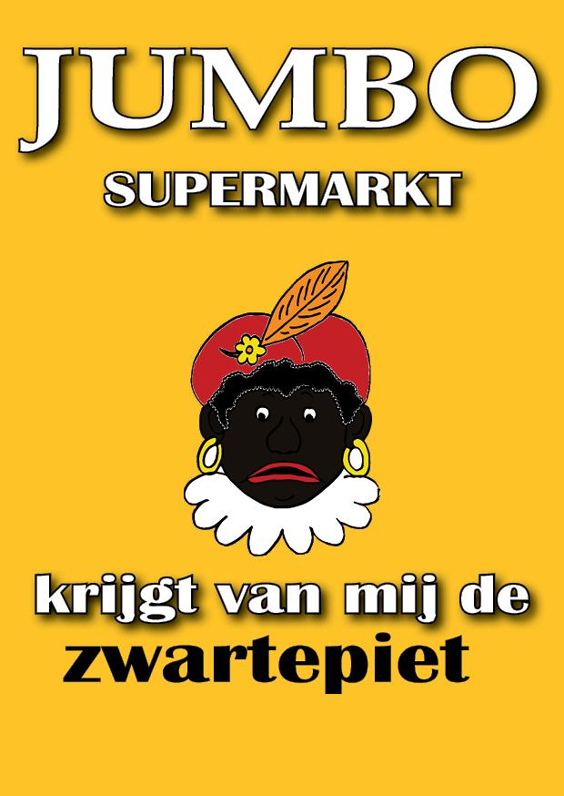 Bestel hier uw briefkaart en geef Jumbo de Zwarte Piet!
