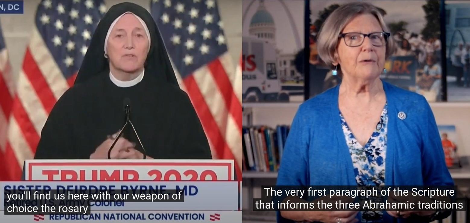 Twee 'pro-life' zusters. Zoek de verschillen