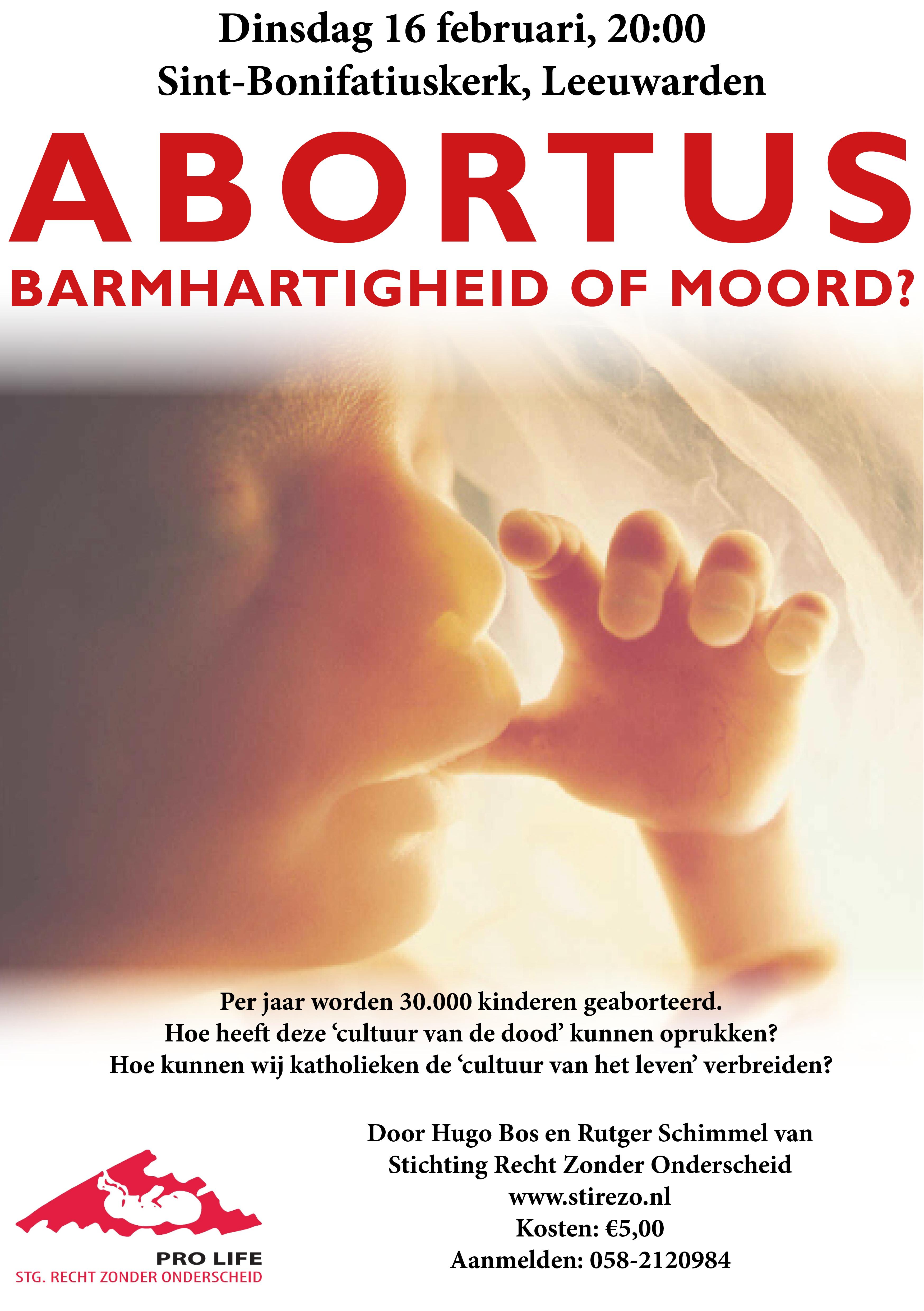 16 februari in Leeuwarden: Stirezo-presentatie over abortus