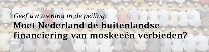 Peiling buitenlandse financiering moskeeën