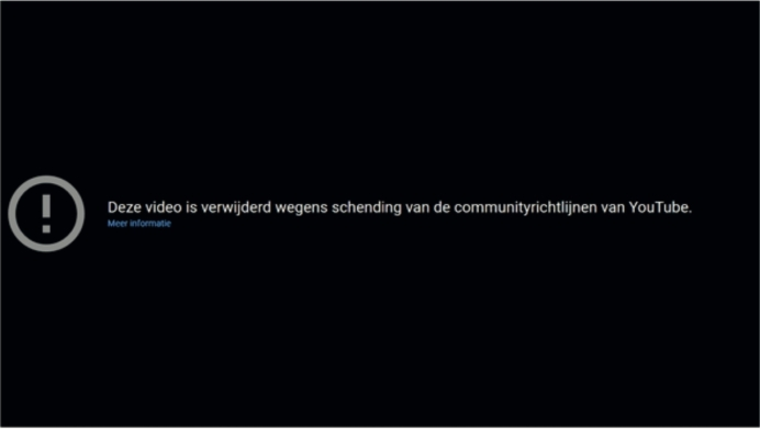 Youtube schending communityrichtlijnen