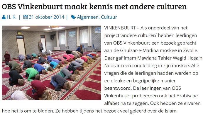 Bidden moskee obs vinkenbuurt