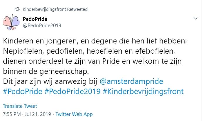 Kinderbevrijdingsfront pride amsterdam