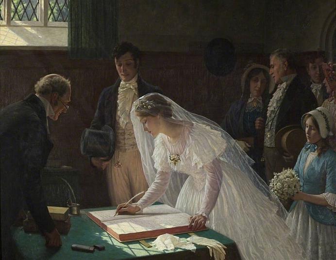 Edmund Blair Leighton The Wedding Register 1024x794