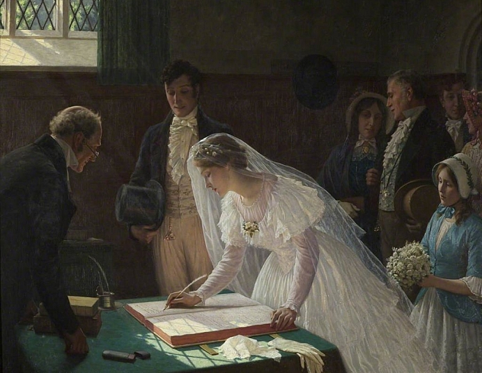 Edmund Blair Leighton The Wedding Register 1024x794