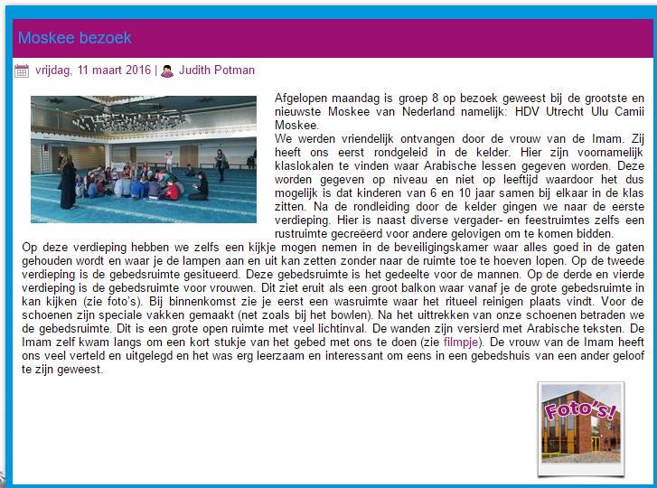 Melding: Basisschool St. Jozef in Oudewater