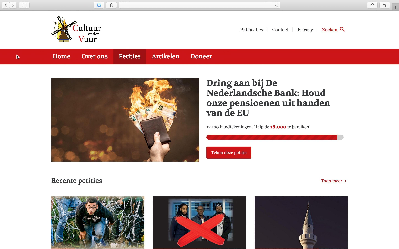 Cultuur onder Vuur tilt actievoeren naar hoger niveau met nieuw online platform
