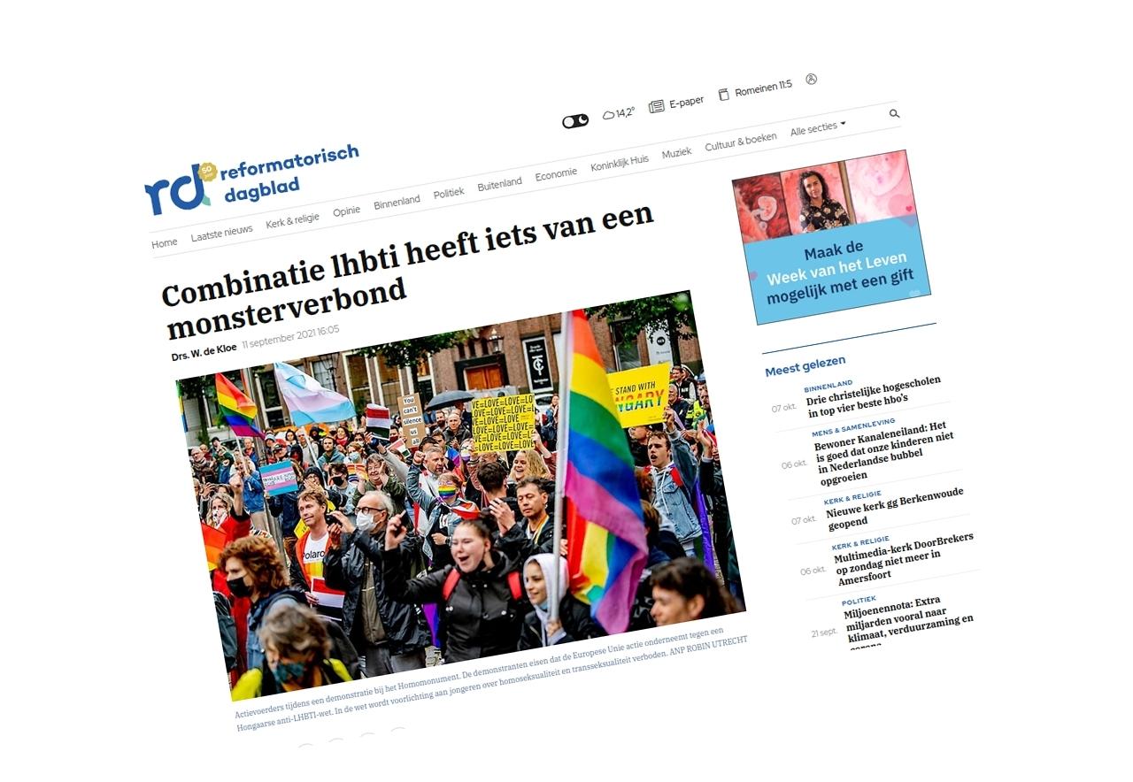 Homolobby neemt schoolbestuurder onder vuur